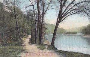 Genesee River and Indaian Trail - Maplewood Park, Rochester, New York - DB
