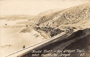 F53/ Huntington Oregon RPPC Postcard c1930s Snake River Trail