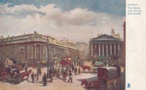 LONDON, England, 1900-1910s ; Bank & Royal Exchange ; TUCK 770