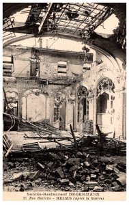War Bombing France reims Salons Restaurant Degermann