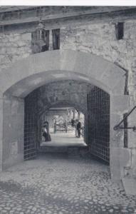 Switzerland Chateau de Chillon Porte d'entree du chateau et grille
