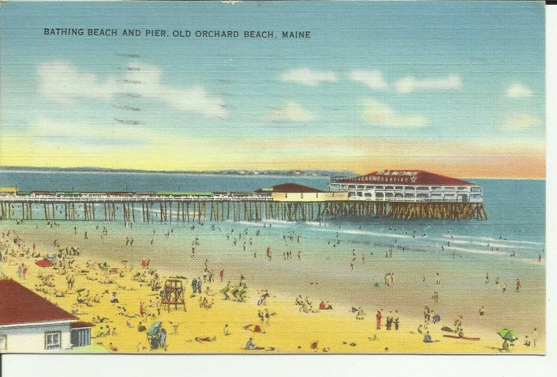 Old Orchard Beach,Maine, Bathing Beach and Pier