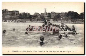 Old Postcard Dinard Hotel Royal and the Hotel Crystal