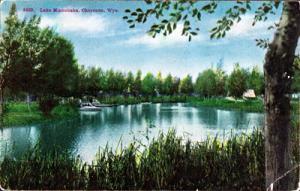 CHEYENNE WYOMING - LAKE MINNEHAHA 1910s view -