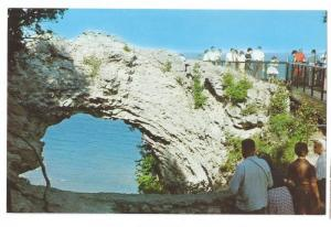 Arch Rock Mackinac Island Michigan MI 1960 Vintage Postcard