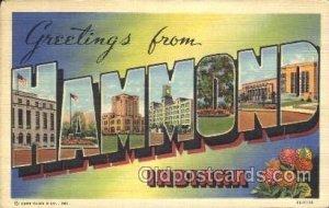Hammond, Indiana, USA Large Letter Town Unused minor corner wear, Unused