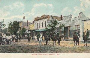 VALENTINE, Nebraska, 1900-10s; Mounted Indian Police on Main Street