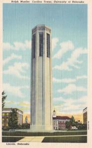 Nebraska Lincoln Ralph Mueller Carillon Tower University Of Nebraska Curteich