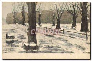Old Postcard Fantasy Illustrator Foret
