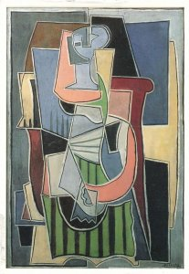 Woman With An Apron - Artist - Picasso Painting - Paris, France - pm 1999