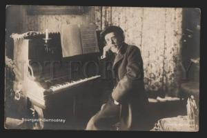 116953 BOURGAULT-DUCOUDRAY French COMPOSER Piano PHOTO vintage