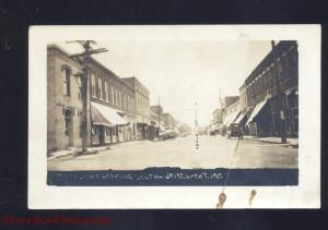 RPPC JAMESPORT MISSOURI DOWNTOWN MAIN STREET SCENE OLD REAL PHOTO POSTCARD