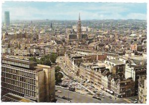 Belgium. Brussels Beautiful Panorama and Town Hall View.  Unused.
