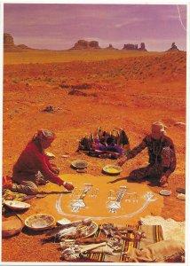 US Navajo Sand Painters. Card 5X7