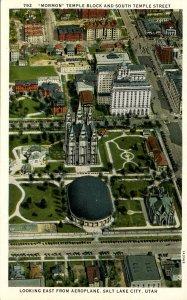 UT - Salt Lake City. Mormon Temple Block & So. Temple Street