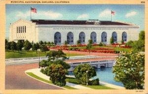 California Oakland Municipal Auditorium 1940