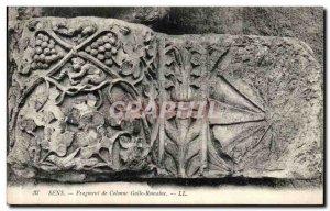 VINTAGE POSTCARD Sense Fragment of Gallo Roman Column