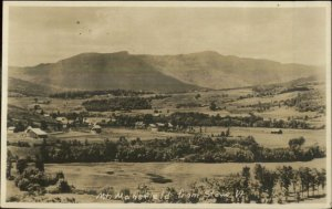 Mt. Mansfield VT From Stowe 1923 Used Real Photo Postcard