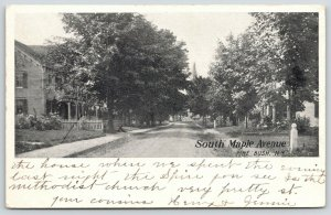 Pine Bush New York~South Maple Street~X is House Where We Spent Night~c1905
