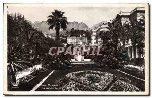 Old Postcard Menton The Public Garden