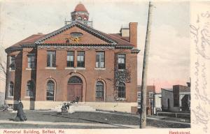 B86/ Belfast Maine Me Postcard 1907 Memorial Building