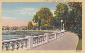 Florida Jacksonville Scene In Springfield Park 1946 Curteich