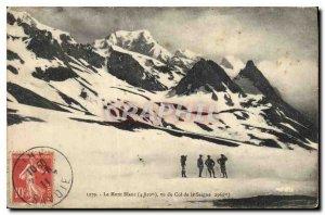 Old Postcard Mont Blanc from the Col de la Seigne