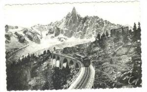 RP, Train On Railroad Tracks, Hotel Et Viaduct Du Montenvers Et l'Aiguille Du...