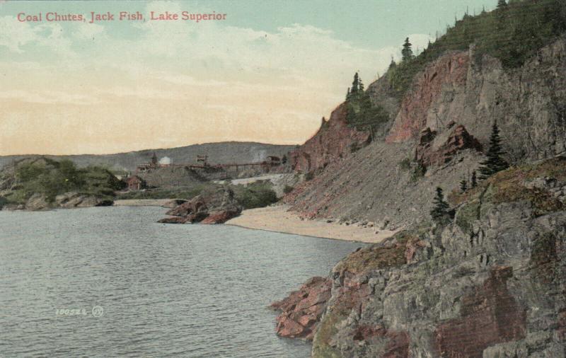 JACK FISH , Lake Superior , Ontario , Canada , 1900-10s ; Coal Chutes