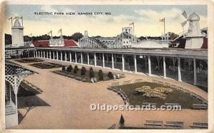 Kansas City, Missouri, MO, USA Postcard Electric Park View Unused