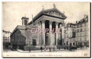 Old Postcard Paris Church of Our Lady of Loreto