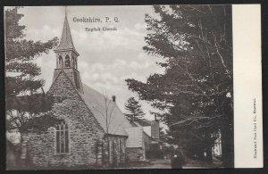 English Church Cookshire Quebec CANADA Unused c1910s