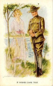 If Wishes Came True…    Artist: Archie Gunn   (military, lovers)