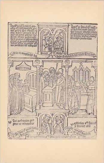 California San Marino  Biblia Pauperum Blockbook Text And Illustrations Are P...