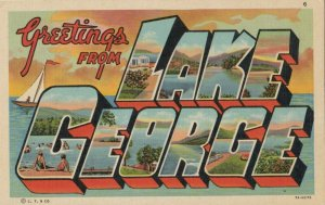 Large Letter LAKE GEORGE, New York, 1930-1940s