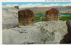 WY - Green River, Red Buttes on U. S. Hwy 30, Lincoln Highway