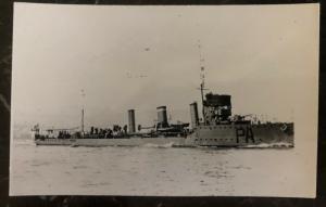Mint RPPC Postcard Italy Navy Regia Marina torpedo boat 1921