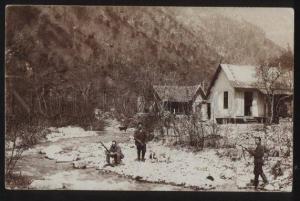 100531 RUSSIA hanters in CAUCASUS mountains Vintage PC