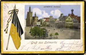 austria, LEIBNITZ, Stadtplatz, Flag (1910s)