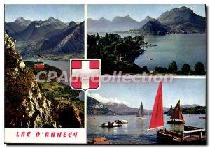 Modern Post Card Lake Annecy Telepherique De Veyrier