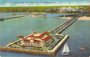 Recreation Pier St Petersburg FL Florida 1966 Tourists Paradise S11 Linen