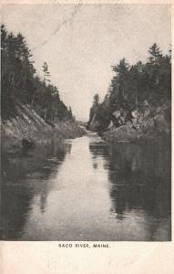 Saco River, Maine, ME, Unused Undivided Back Antique Vintage Postcard g671