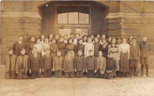 E44/ Yorktown? Indiana In Real Photo RPPC Postcard 1911 Freshmen School Students