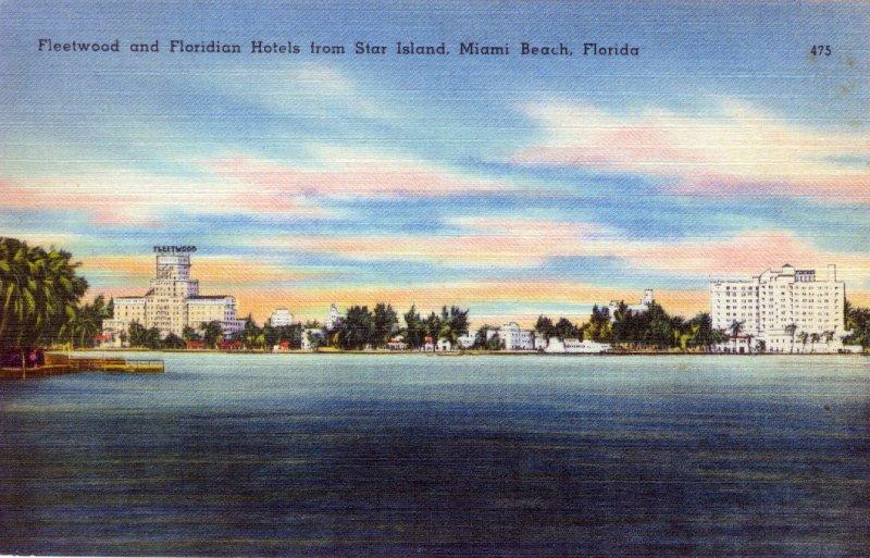 [ Linen ] US Florida Miami - Fleetwood And Floridian Hotels