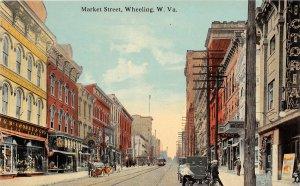 F71/ Wheeling West Virginia c1910 Postcard Market Street Stores 4