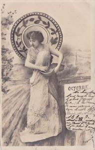 Month Of The Year October Glamorous Lady 1903