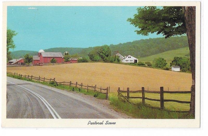 Pastoral Scene Rural American Farm Fields Countryside 1966 Curteich 6DK 1757