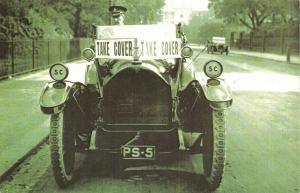 Nostalgia Postcard October 1917 WW1 Air Raid Warning Car LONDON Repro Card NS1