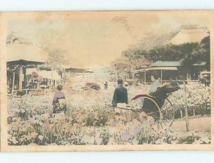 Pre-1907 WOMAN IN RICKSHAW CART Country Of China hJ6562