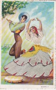 Embroidered Spain Bolero Dancers In Local Costume
